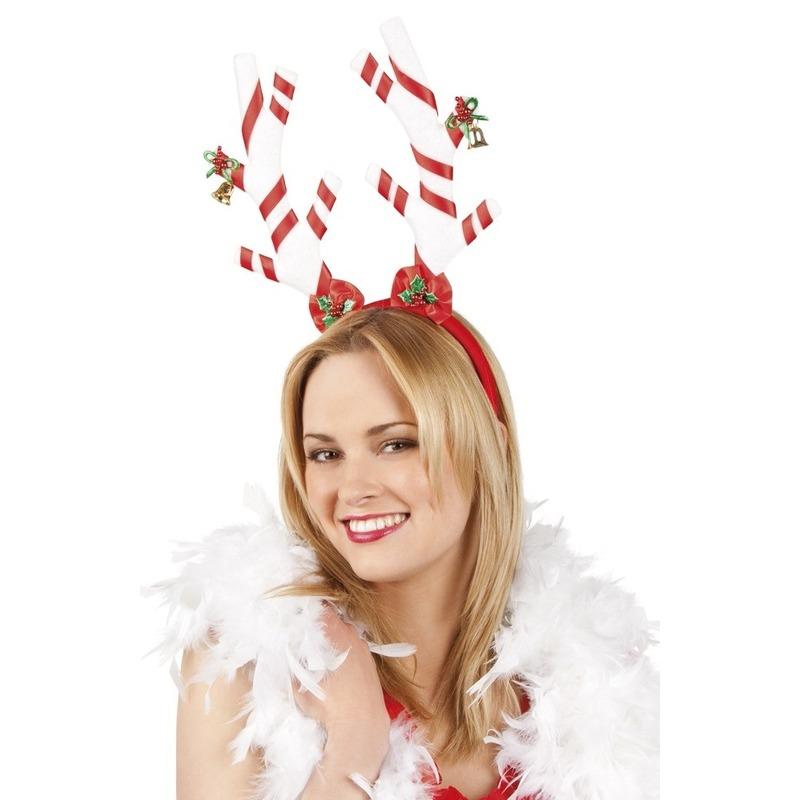 Kerst dames diadeem rendier Rood