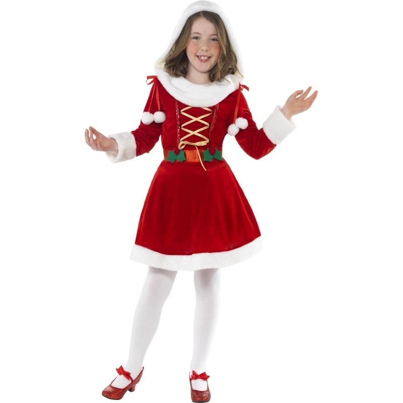 Kerst jurkje voor kinderen 130-143 (7-9 jaar) Rood