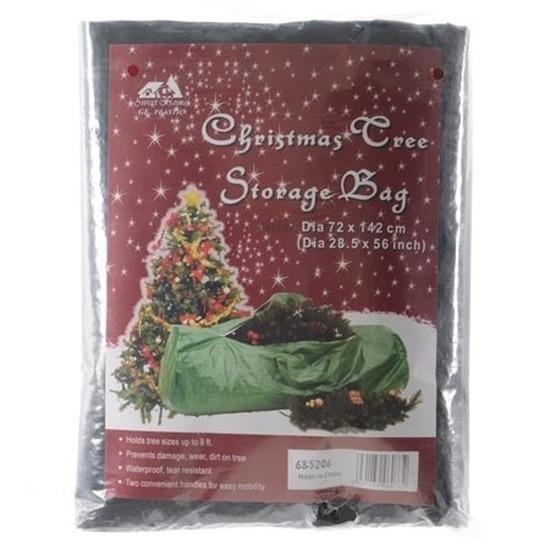 Kerstboom opbergen groene tas met rits 73 x 142 cm Multi