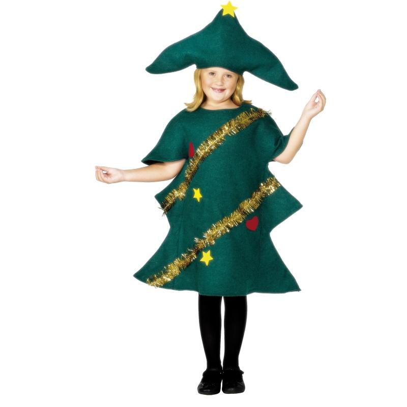 Kerstboom pakje voor kinderen 140-152 (9-12 jaar) Groen