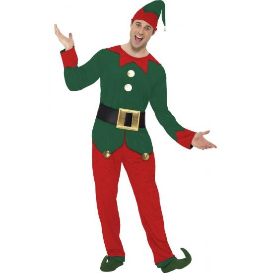 Kerstelf pak voor mannen 52-54 (L) Multi
