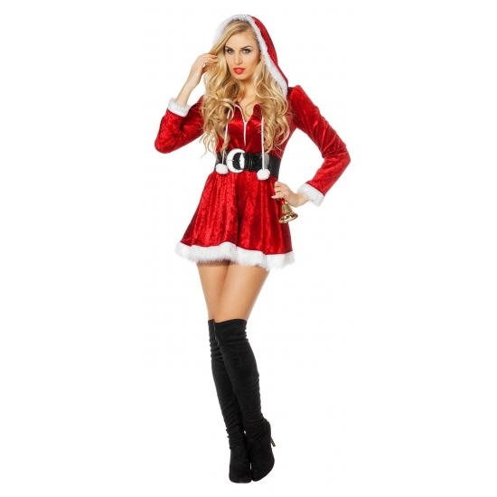 Kerstjurkje met riem voor dames 36 (S) Rood