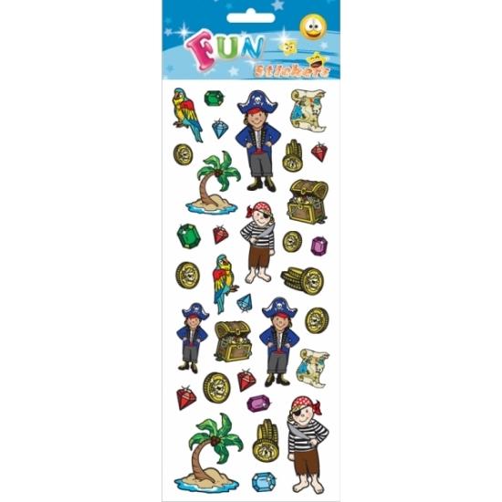 Kinder piraat en schatkist stickers Multi