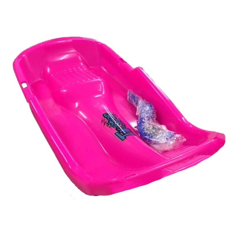 Kinder slee van plastic roze Roze