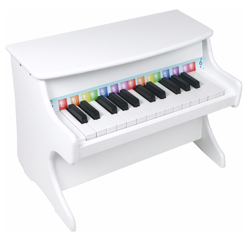 Kinder speelgoed piano Wit