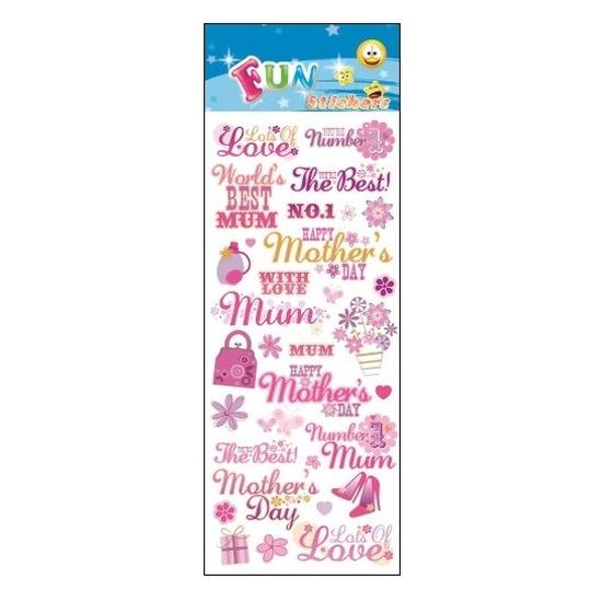 Kinder stickers moederdag Roze