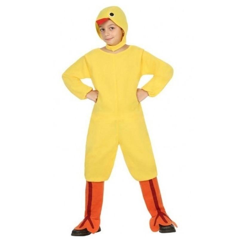 Kippen verkleedpak/set voor Pasen voor kinderen 116 (5-6 jaar) Geel