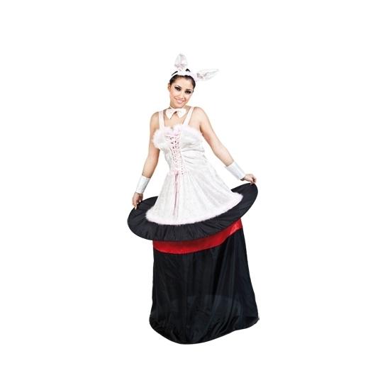 Konijn uit goochelaarshoed outfit voor dames S/M (T-04) Multi