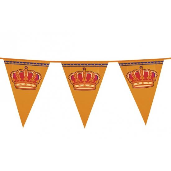 Koningsdag vlaggenlijn 8 meter Oranje