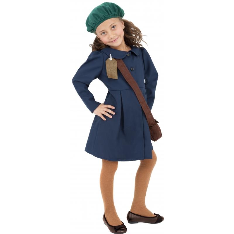 Kostuum schoolmeisjes 130-143 (7-9 jaar) Multi