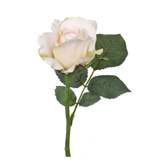 Kunst roos wit 30 cm
