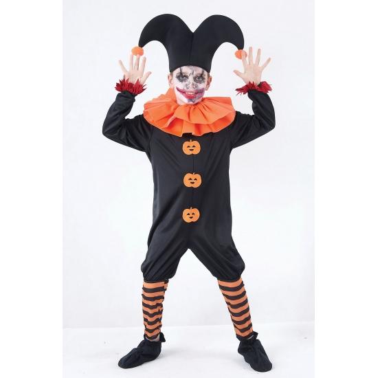 Kwade nar kostuum voor jongens 128 - 6-8 jr Zwart