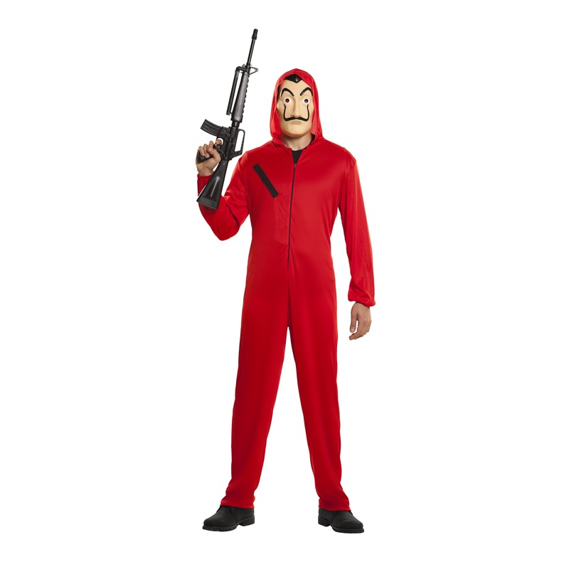 La casa de Papel bankrover carnaval kostuum voor volwassenen S Rood