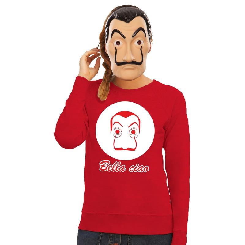 La Casa de Papel masker inclusief rode Salvador Dali trui voor dames L Rood