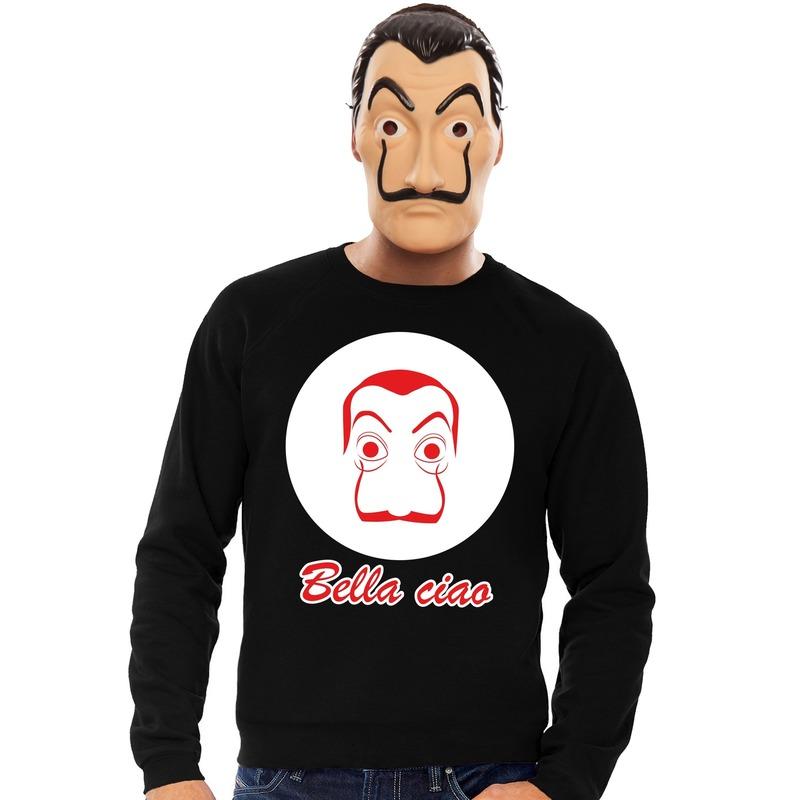 La Casa de Papel masker inclusief zwarte Salvador Dali trui voor heren XL Zwart