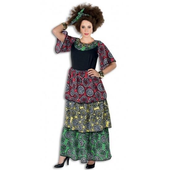 Lange Carribische jurk voor dames 38 (M) Multi