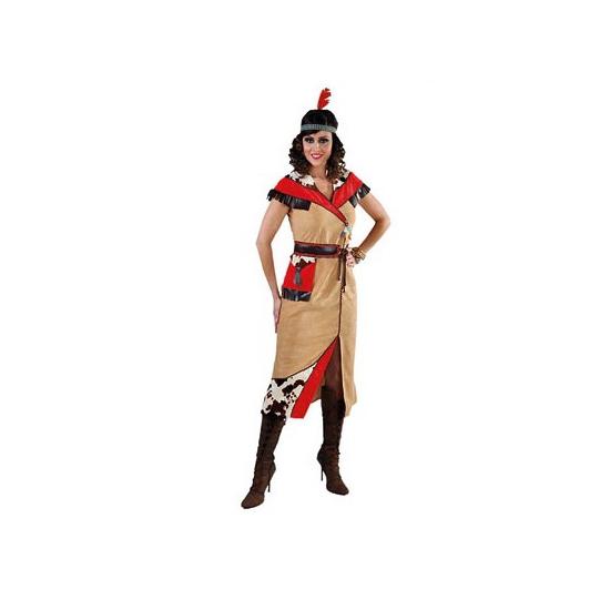 Lange Indiaanse jurk voor dames S Bruin