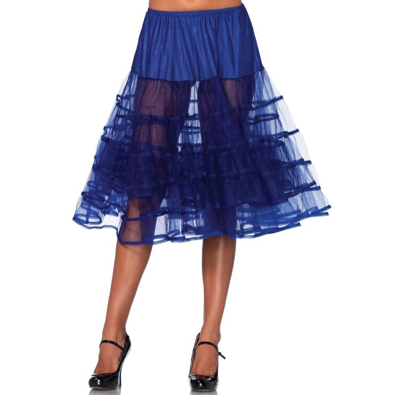 Lange tule onderrok kobalt blauw voor dames One size Blauw