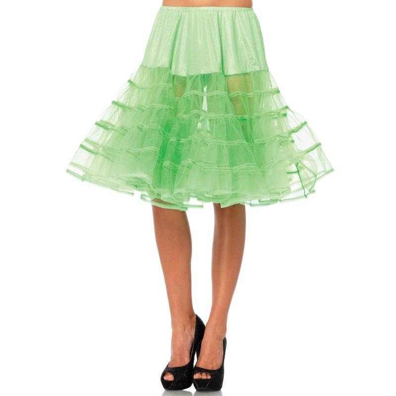 Lange tule onderrok neon groen voor dames One size Groen