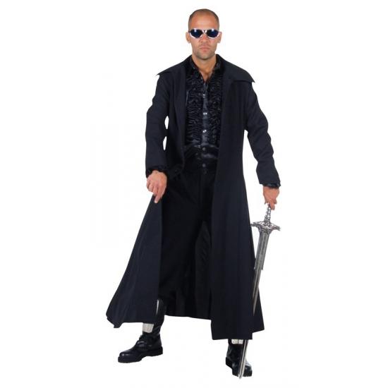 Lange zwarte verkleedjas 52-54 (M) Zwart
