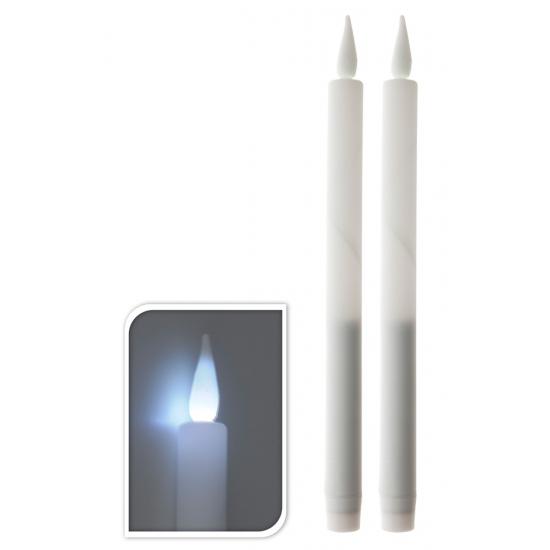 LED licht kaarsen wit Wit