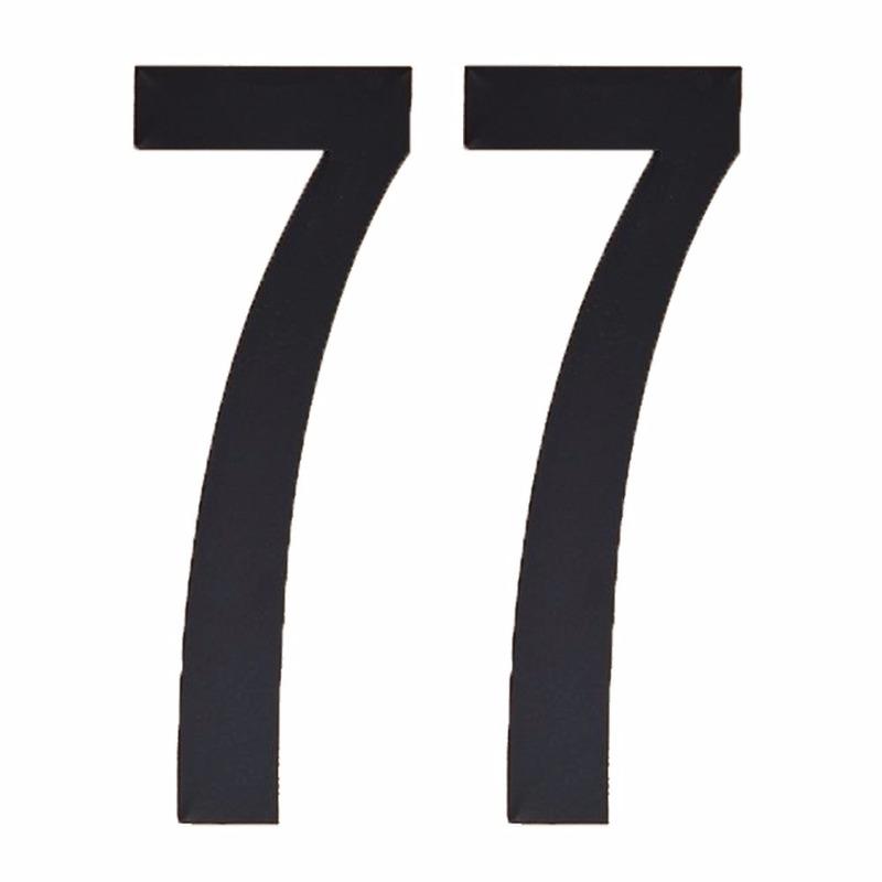 Leeftijd cijfer stickers 77 jaar