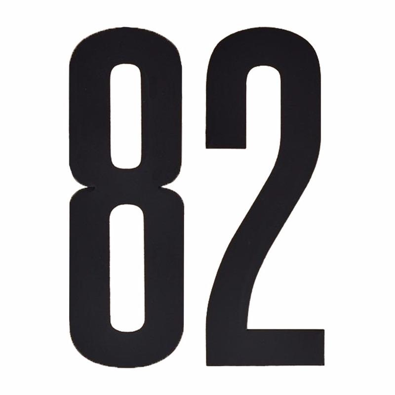 Leeftijd cijfer stickers 82 jaar Zwart