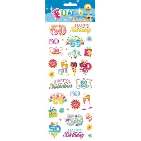 Leeftijd stickers 50 jaar Multi