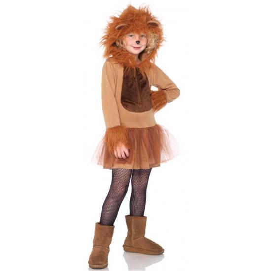 Leeuw kostuum voor meiden 7-10 jaar (M) Bruin