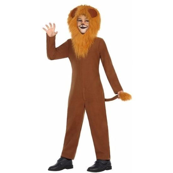 Leeuw Leo verkleedoutfit voor kinderen 140 (10-12 jaar) Bruin