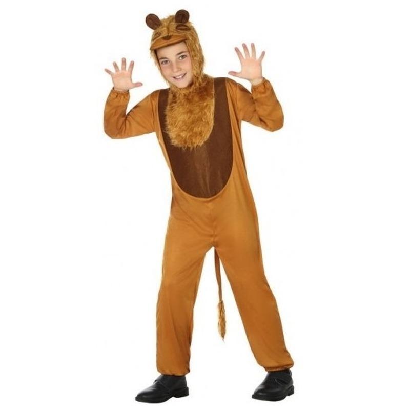 Leeuw onesie verkleedset voor kinderen 104 (3-4 jaar) Bruin
