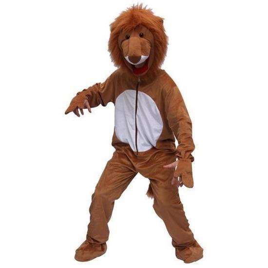 Leeuwen verkleed kleding van pluche One size Bruin