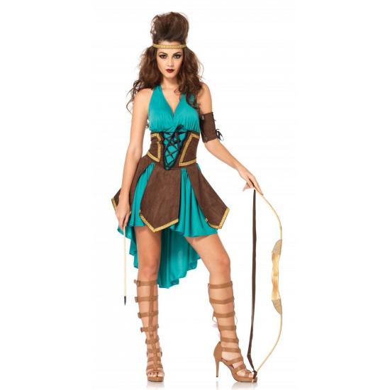 Leg Avenue krijger dames kostuum S/M Multi