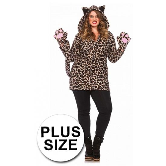 Leg Avenue luipaard kostuum grote maat 3XL/4XL Bruin