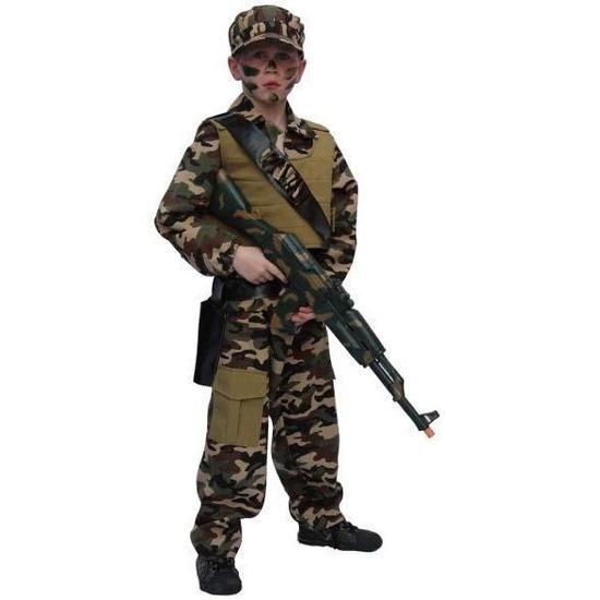 Leger soldaten pak kind 128 Groen