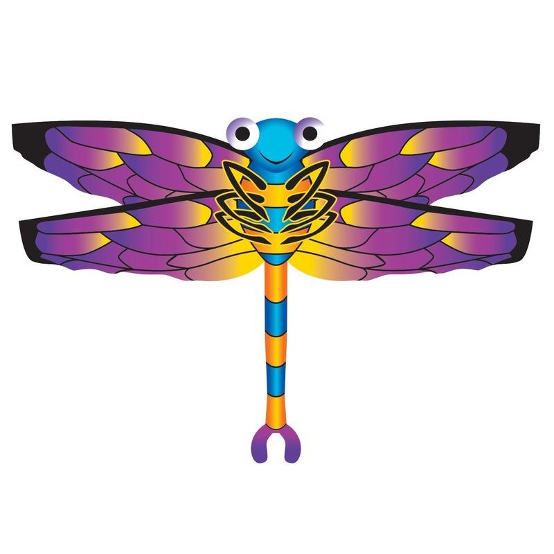 Libelle speel vlieger 76 x 112 cm Rood