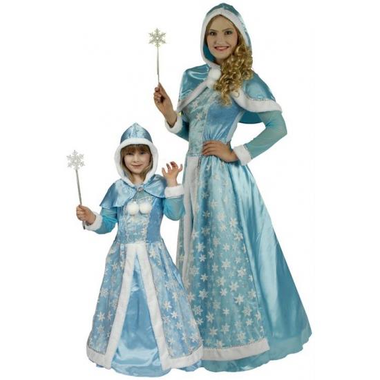 Lichtblauwe sneeuw prinsessen jurkje 98-104 Blauw