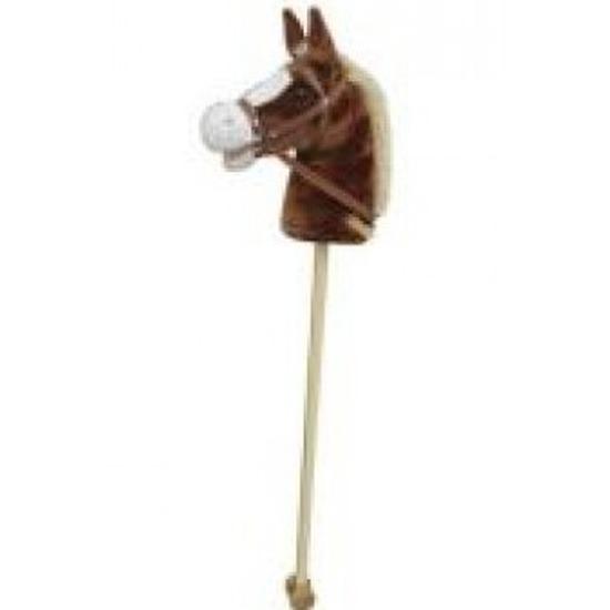 Lichtbruin stokpaard met beweging en geluid 97 cm