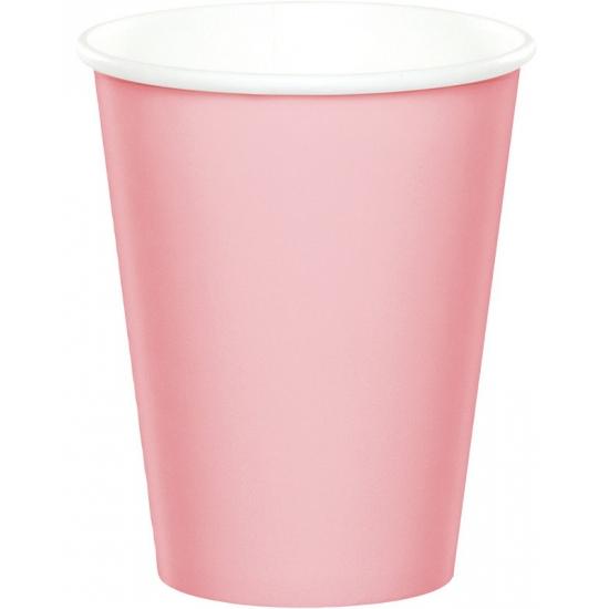 Lichtroze wegwerp bekers Roze