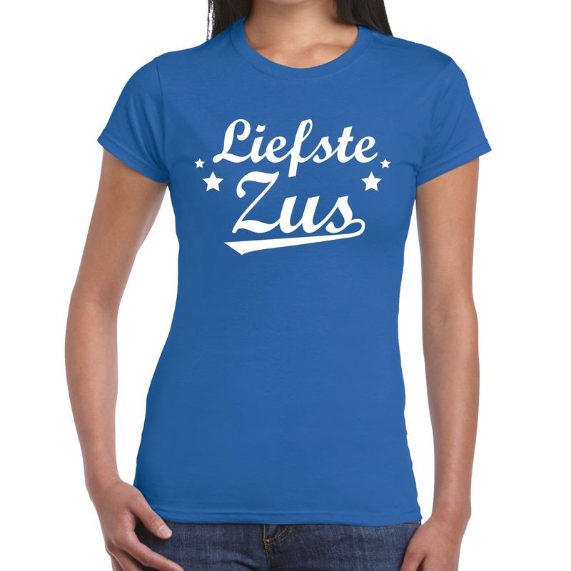Liefste zus fun t-shirt blauw voor dames