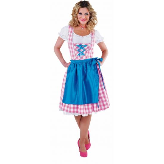 Luxe Oktoberfest dirndl roze voor dames 40 (L) Multi