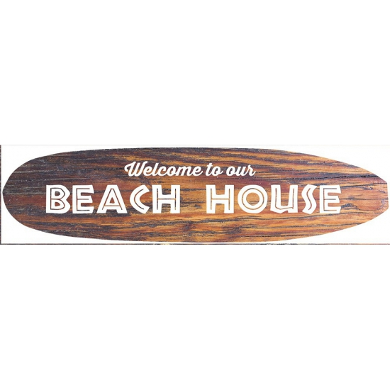 Metalen surfboard Beach House -
