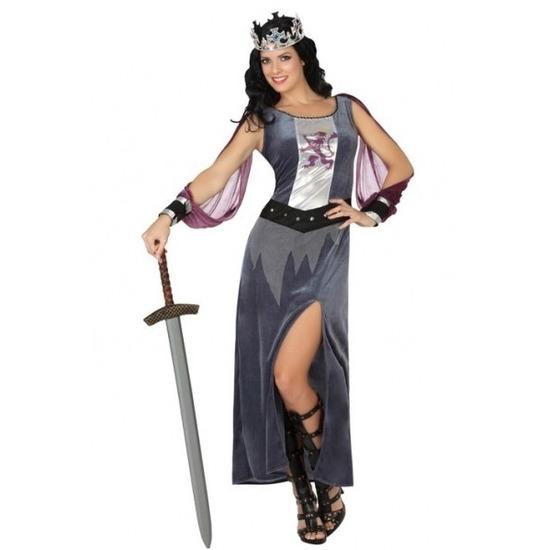 Middeleeuws koninginnen verkleed kostuum jurk voor dames M/L (38-40) Multi