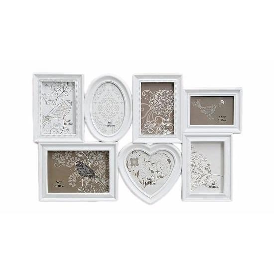 Muur frame fotolijst wit 55 x 35 cm Wit