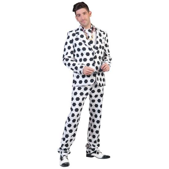 Net pak/kostuum met voetbal print voor heren 48-50 (S/M) Multi