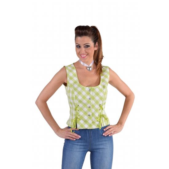 Oktoberfest mouwloos hemd groen 44 (XL) Groen