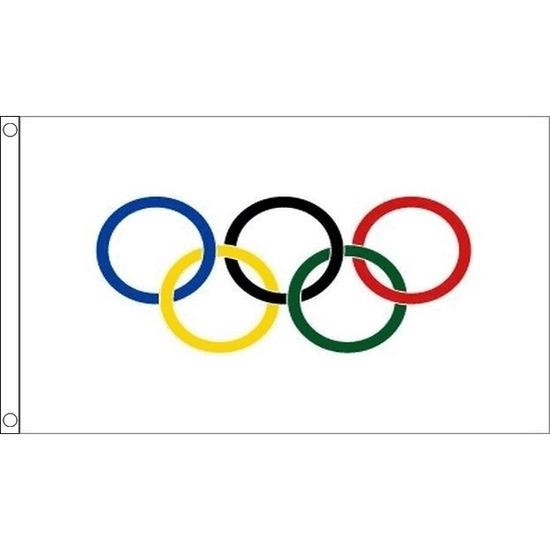 Olympische spelen vlag 90 x 60 cm