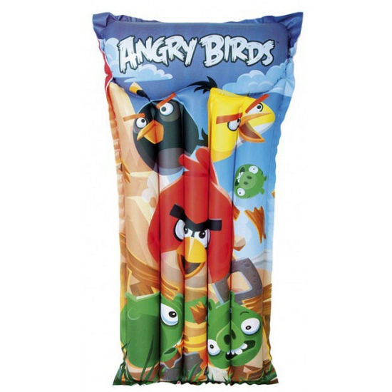 Opblaas Angry Birds luchtbed/luchtmatras 119 x 61 cm waterspeelgoed