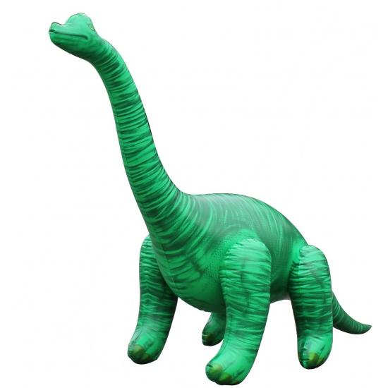 Opblaas Brachiosaurus dino groen 122 cm Multi
