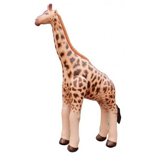 Opblaas giraffe bruin 92 cm Multi